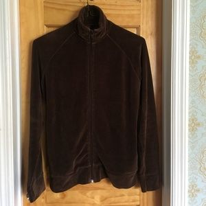 H&M Brown Velour track jacket